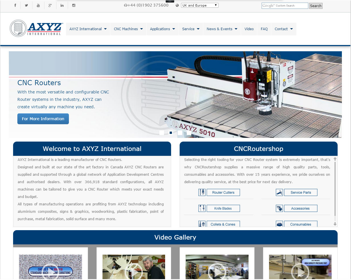 cleartarn website - AXYZ International CNC Router Systems