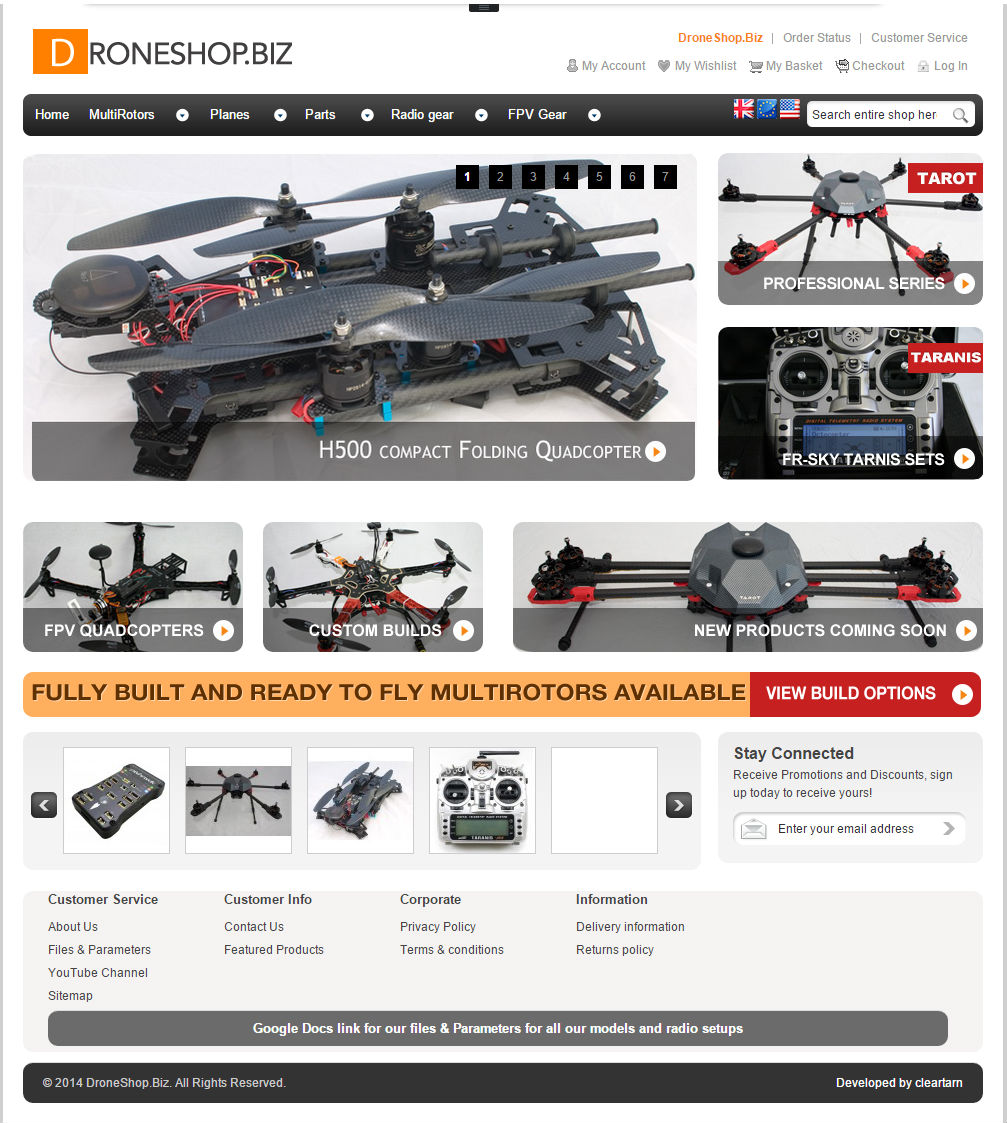 cleartarn website - Droneshop