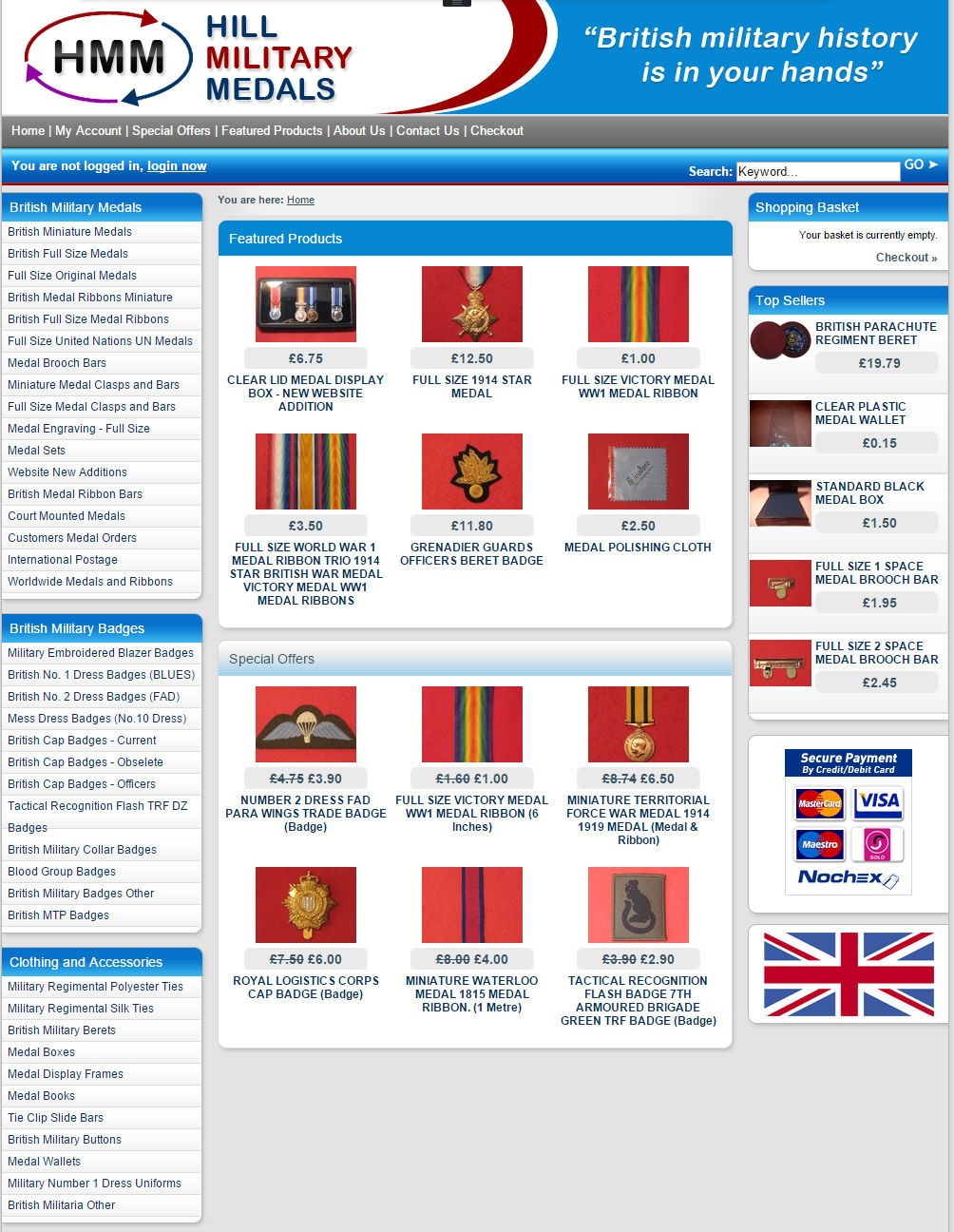 cleartarn website - Hill Military Medals