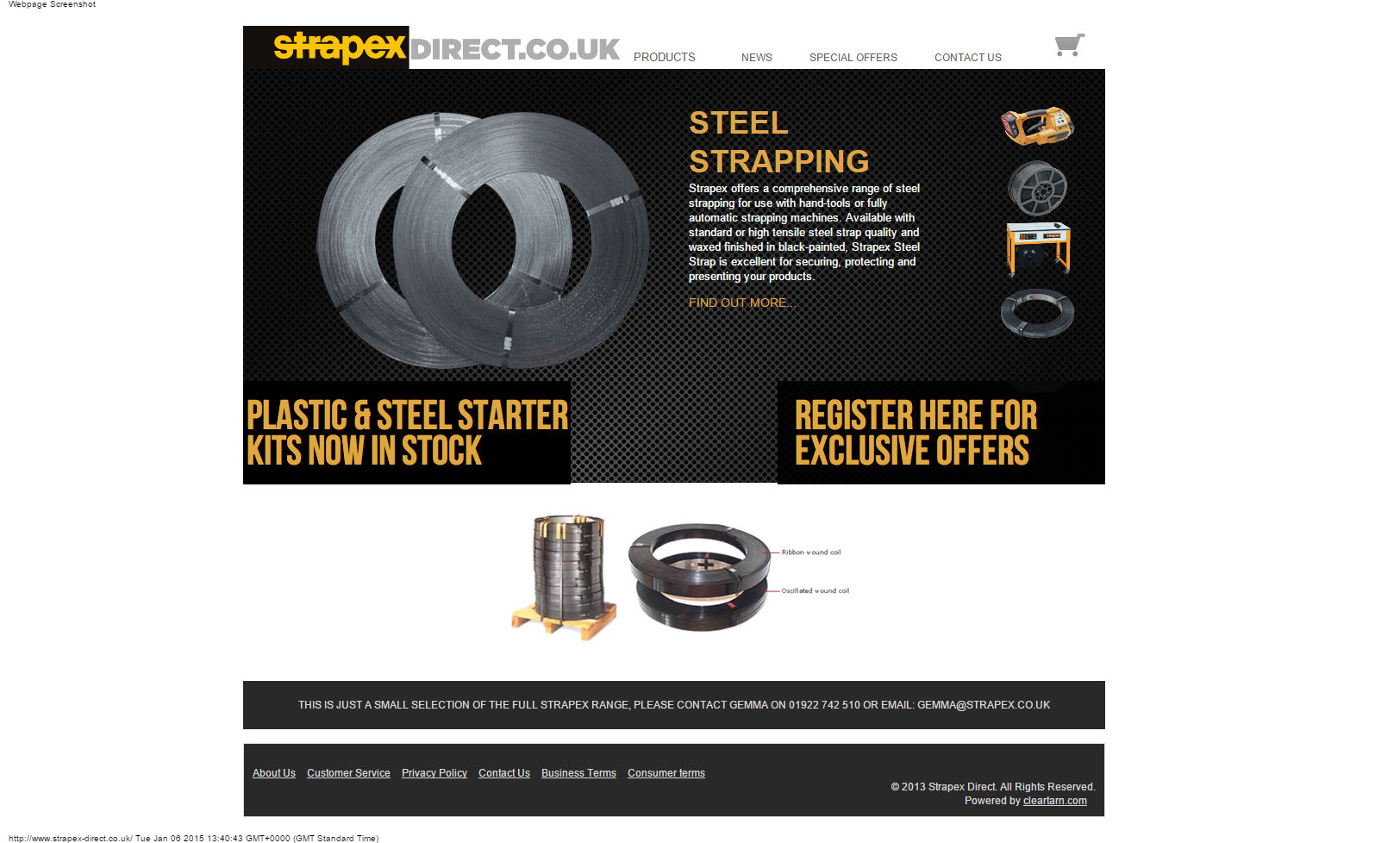 cleartarn website - Strapex-direct