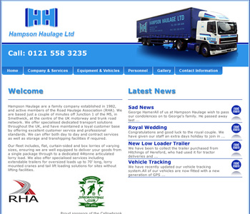 cleartarn website - Hampson Haulage
